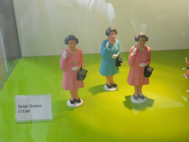 museum of london, gift shop, queen, solar powered