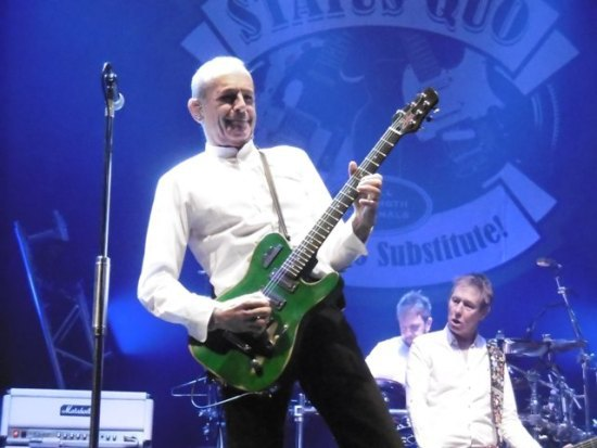Status Quo, Francis Rossi, Rick Parfitt, Last of the Electrics tour, Barclaycard Arena Birmingham, Rhino Edwards, Andy Bown, Leon Cave