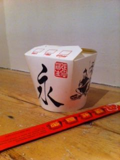 American style Chinese takeaway noodle box