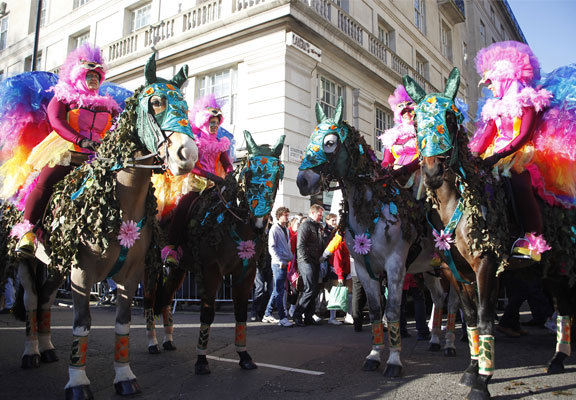 london's new year's day parade, queen's horses