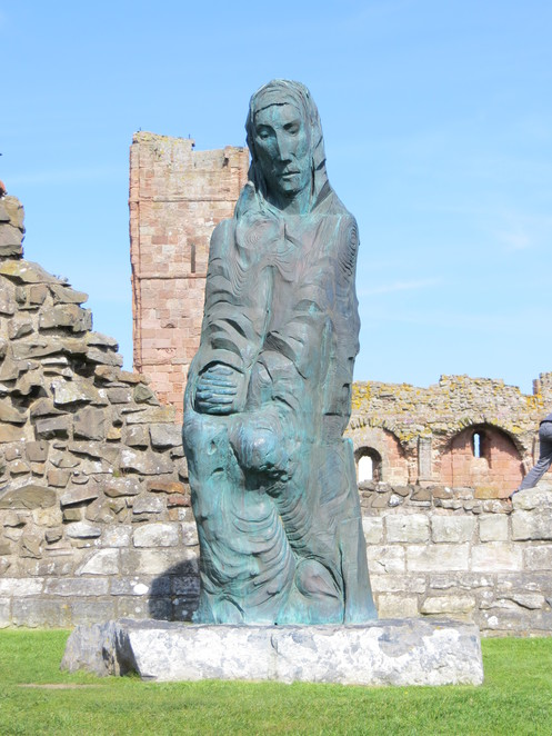 mary, lindisfarne priory, holy island, northumberland