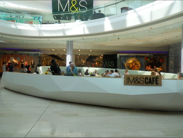 westfield london, marks & spencers, cafe
