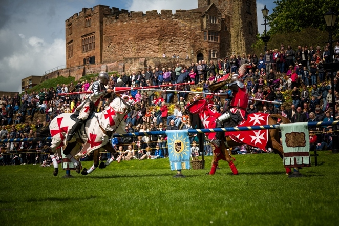 Tamworth Castle, jousting