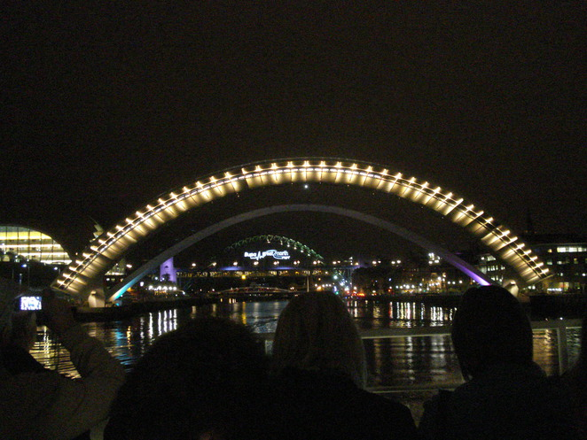 The M Bridge lights up the sky