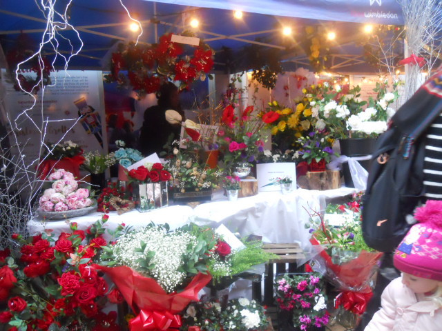 wimbledon, christmas market, flowers, bouquet