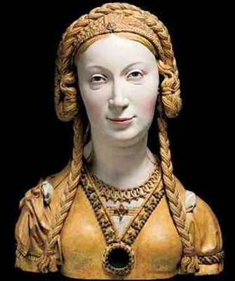 Reliquary bust of an unknown female saint, probably a companion of St Ursula. South Netherlandish, c. 1520–1530. © The Metropolitan Museum of Art, New York.