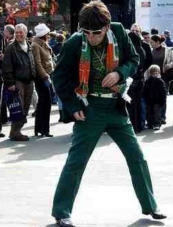 Irish Elvis in Trafalgar Square