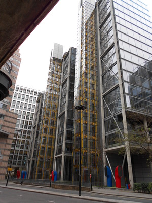 Modern 'Meccano' building, London Wall