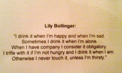 Lily Bollinger quote