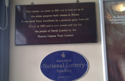 National Lottery Plaque