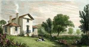 Painting of Sandycombe Lodge as it was in Turner's Time - Picture Courtesy of the Sandycombe Lodge Website